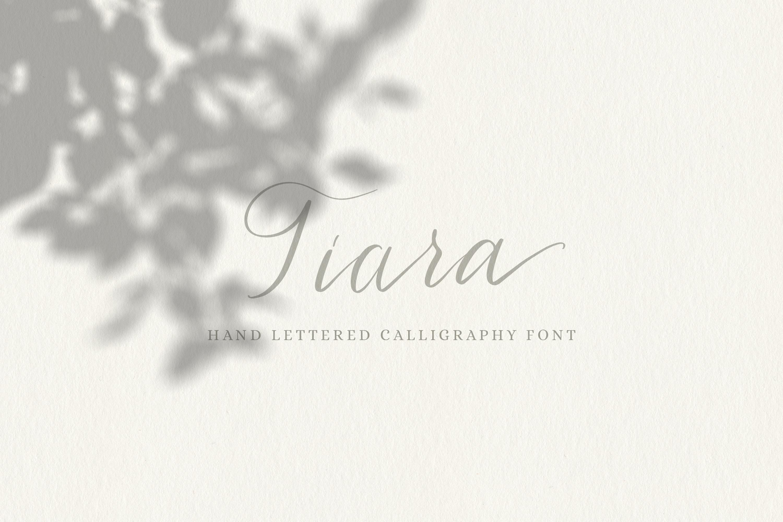 Tiara / modern calligraphy script example image 9