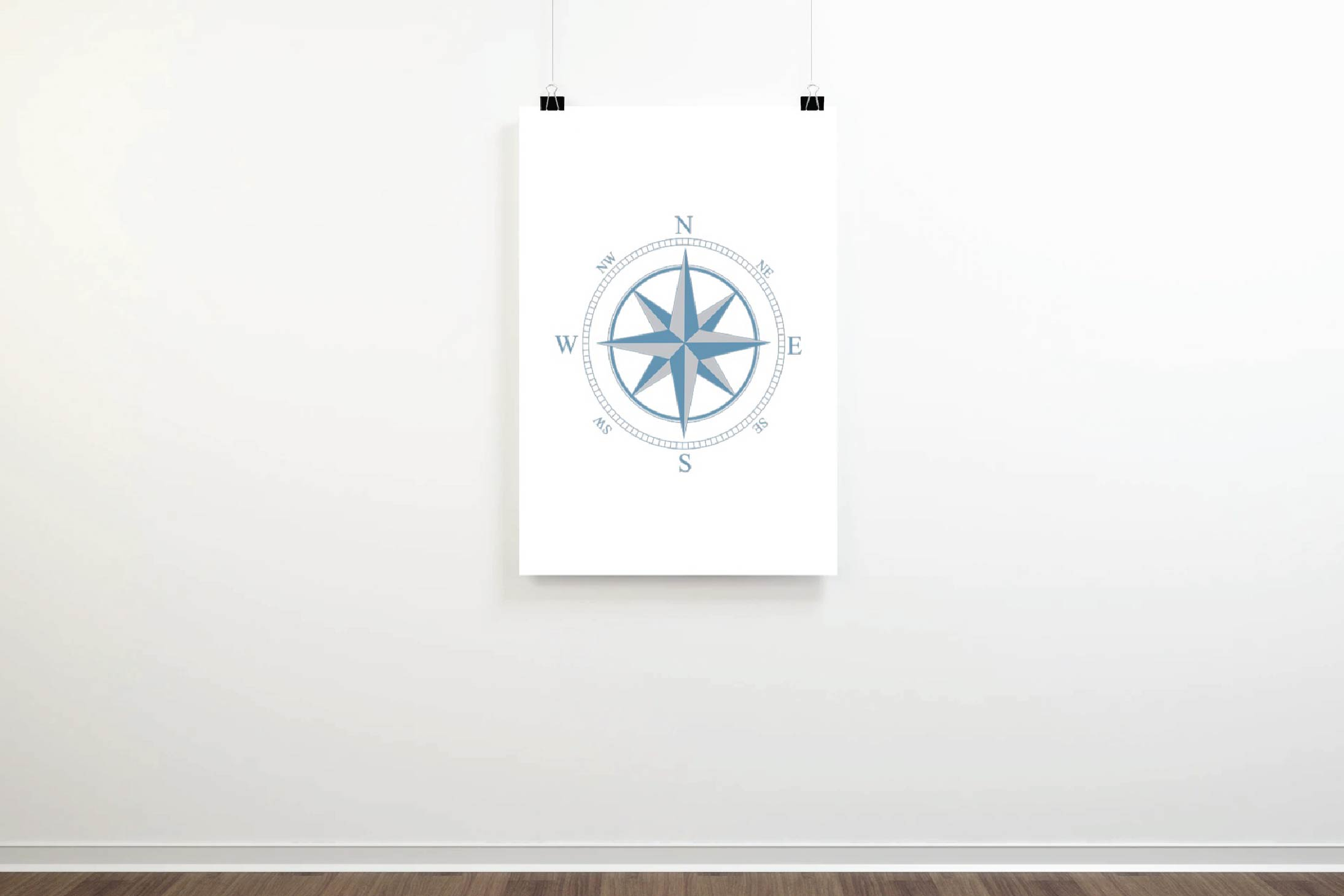 Compass rose navigation silhouette. Travellers decoration. example image 13