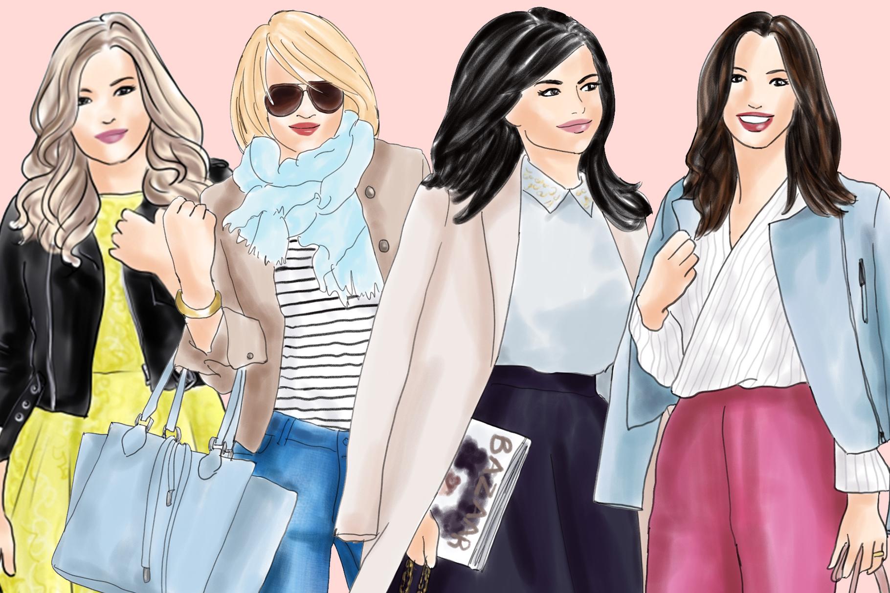 Fashion illustration clipart - Fashion Girls 21 - Light Skin example image 3