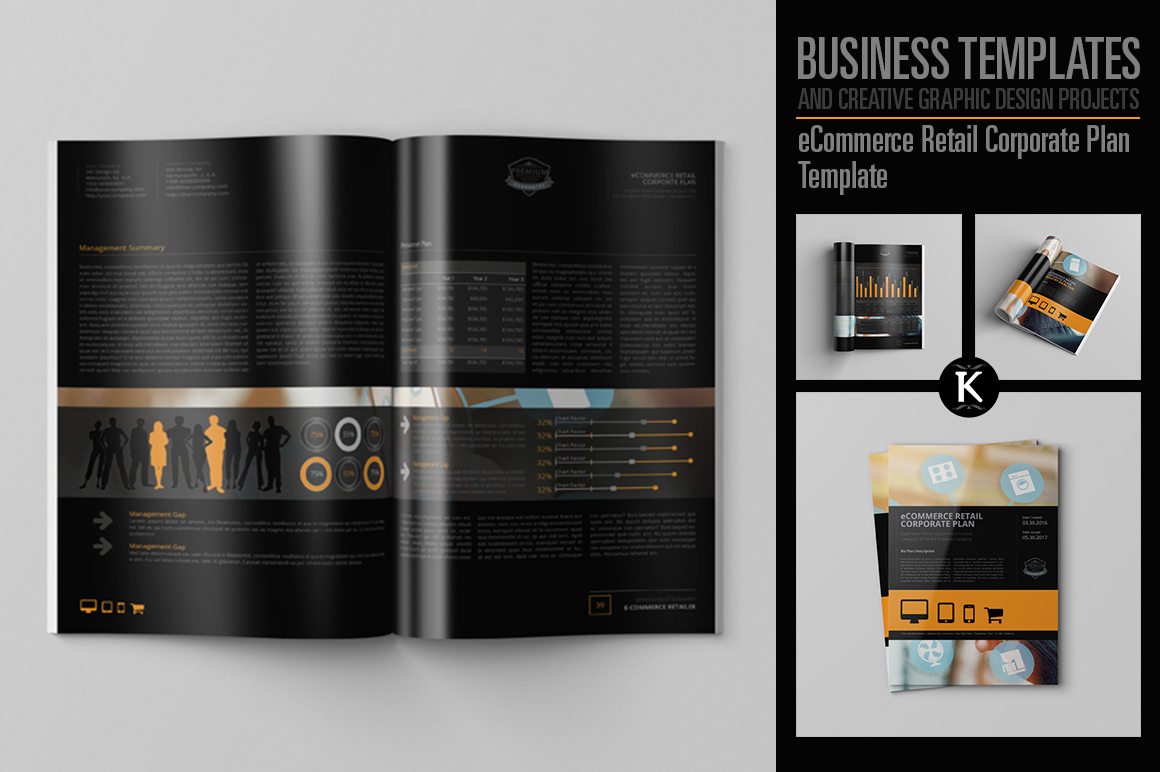 eCommerce Retail Corporate Plan Template example image 1