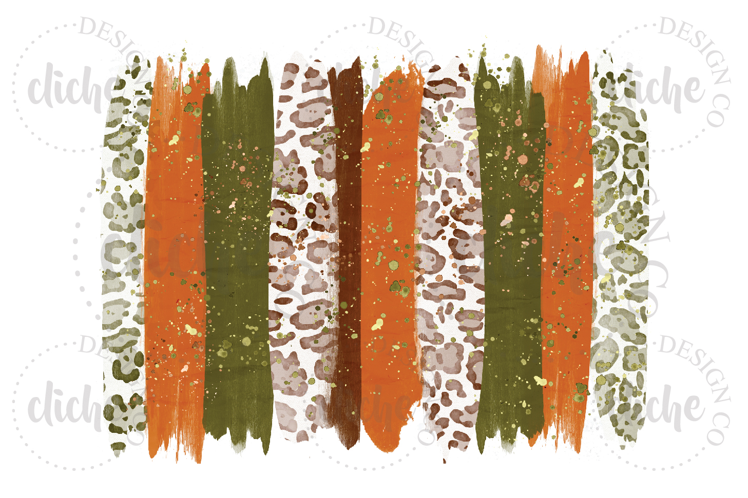 Fall Paint Stroke Sublimation Design Background example image 1