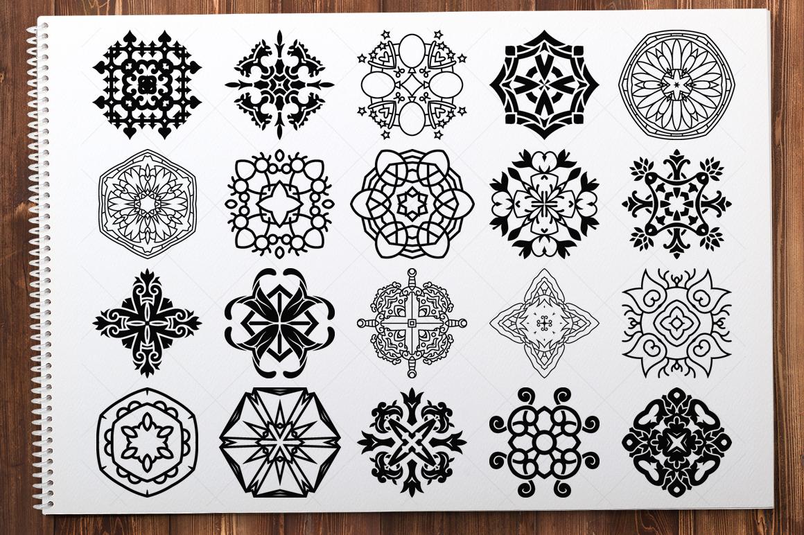 500 Vector Mandala Ornaments example image 25