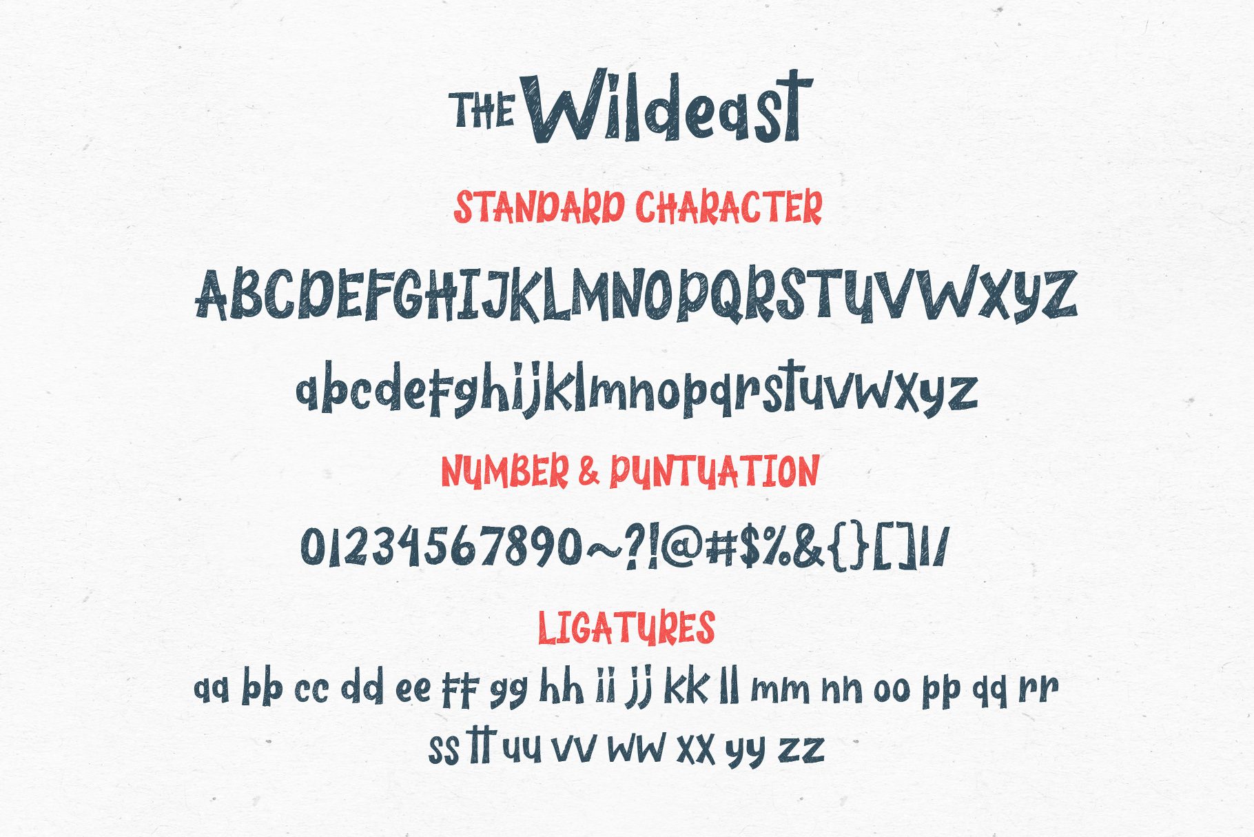 The Wildeast Font example image 8