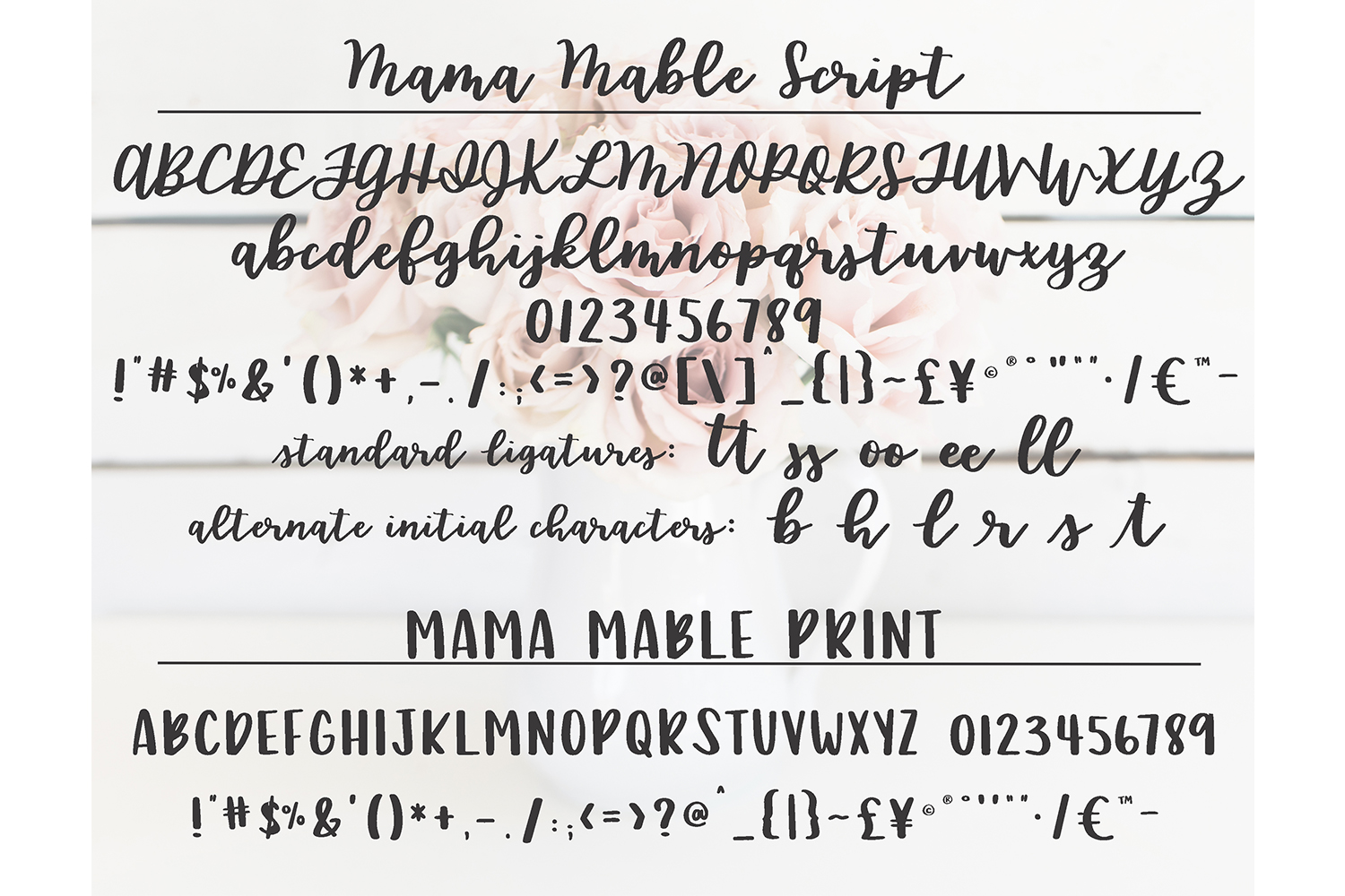 Mama Mable - A hand lettered font duo example image 5