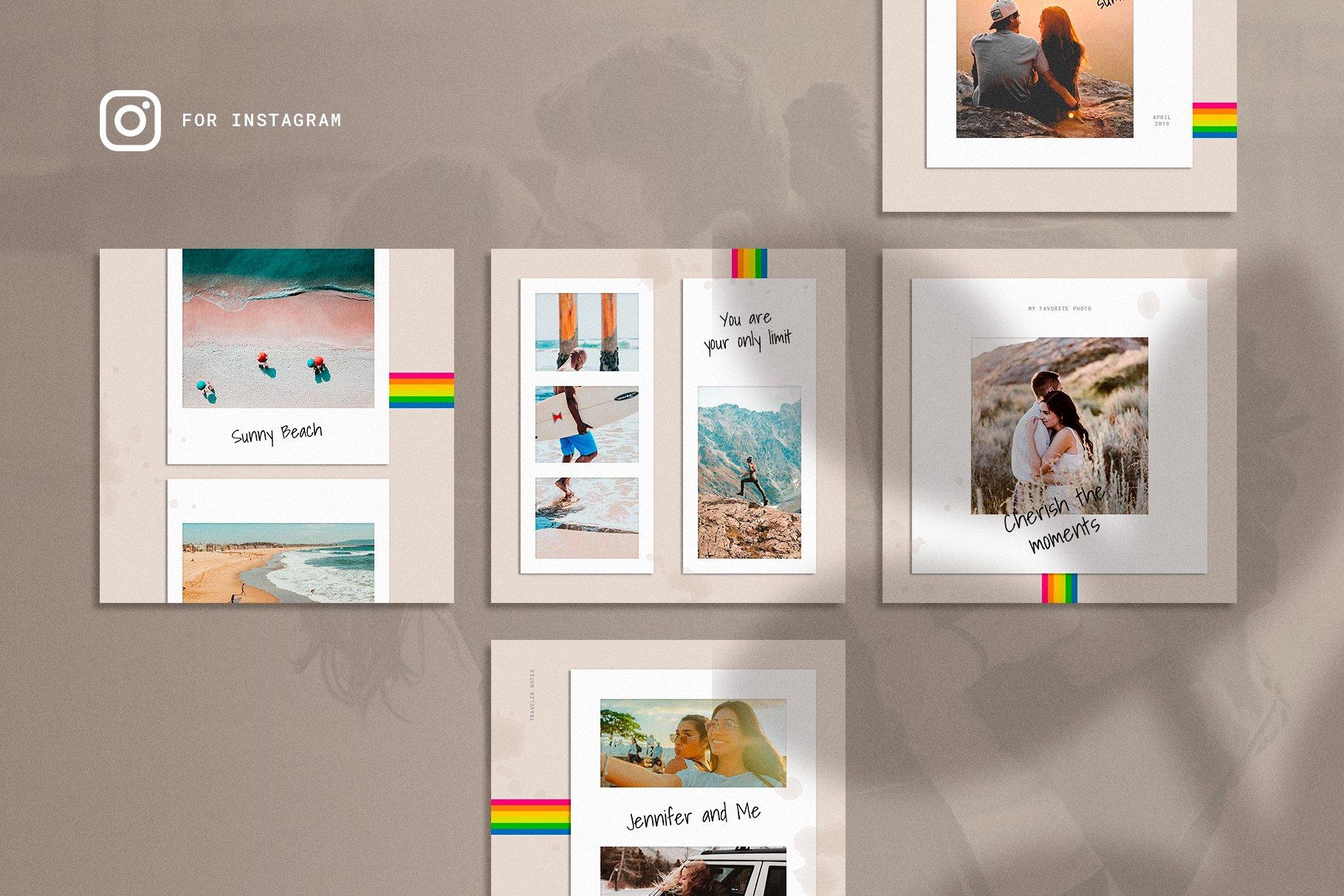 Polaboard Instagram Social Kit example image 2