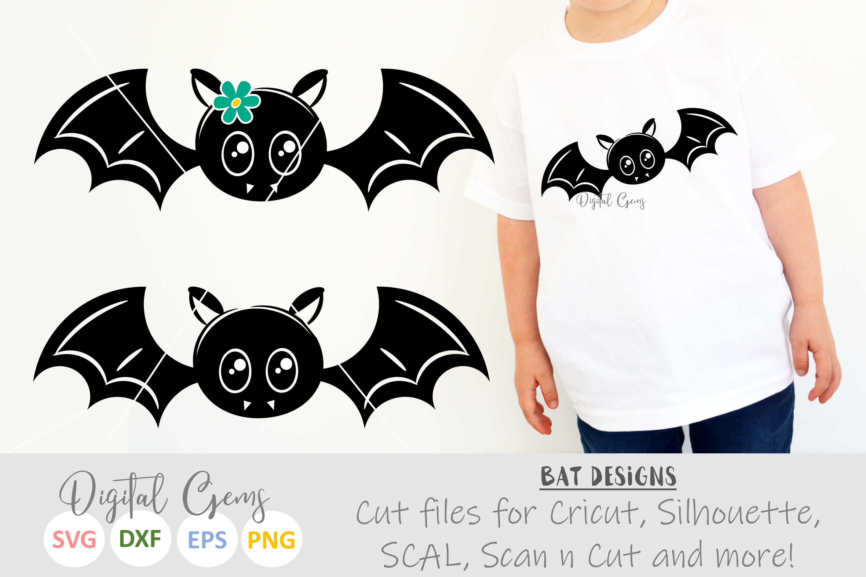 Mr And Mrs Bat Svg Eps Dxf Png Files Example Image 1