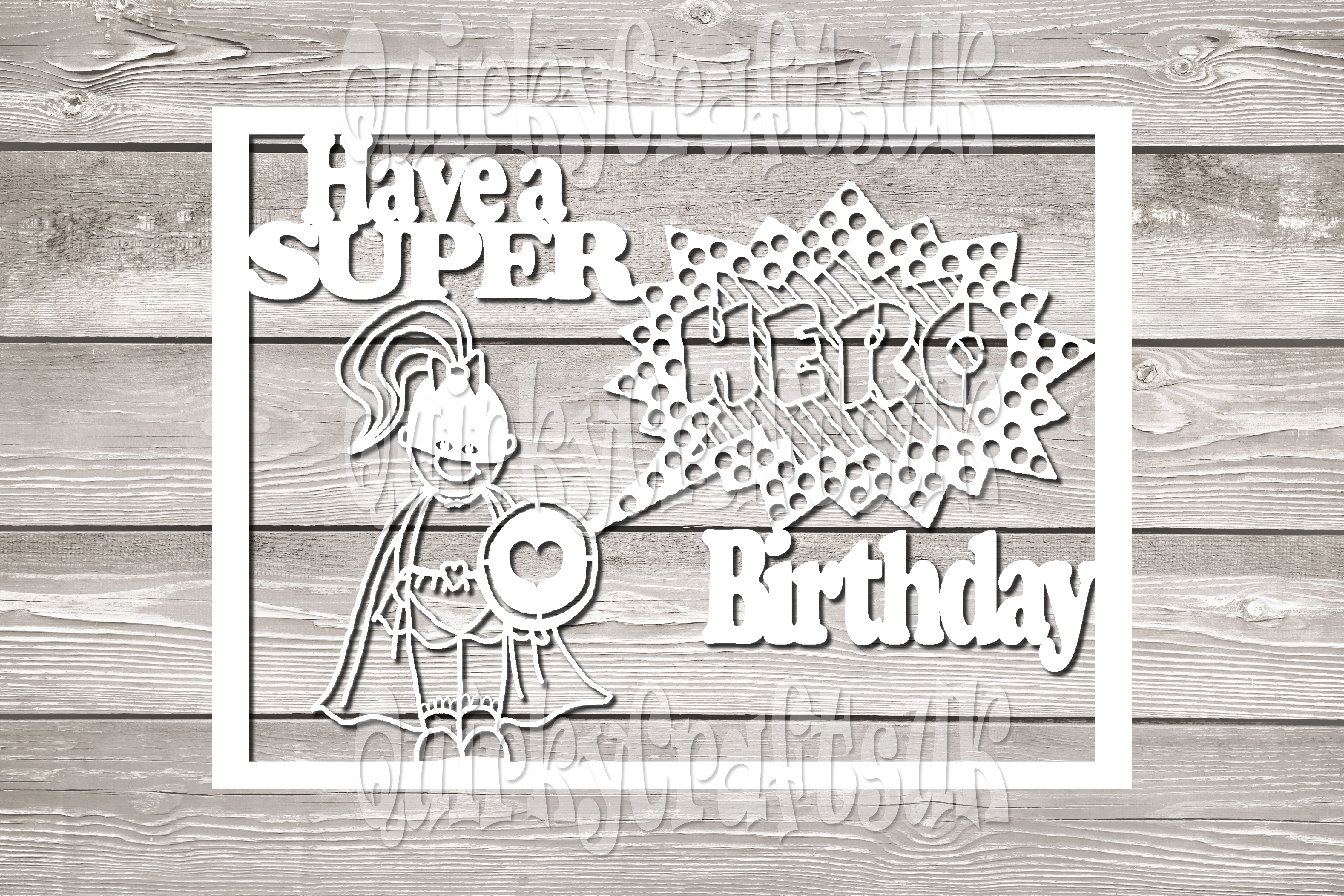 Have a Super HERO birthday papercutting templates example image 3