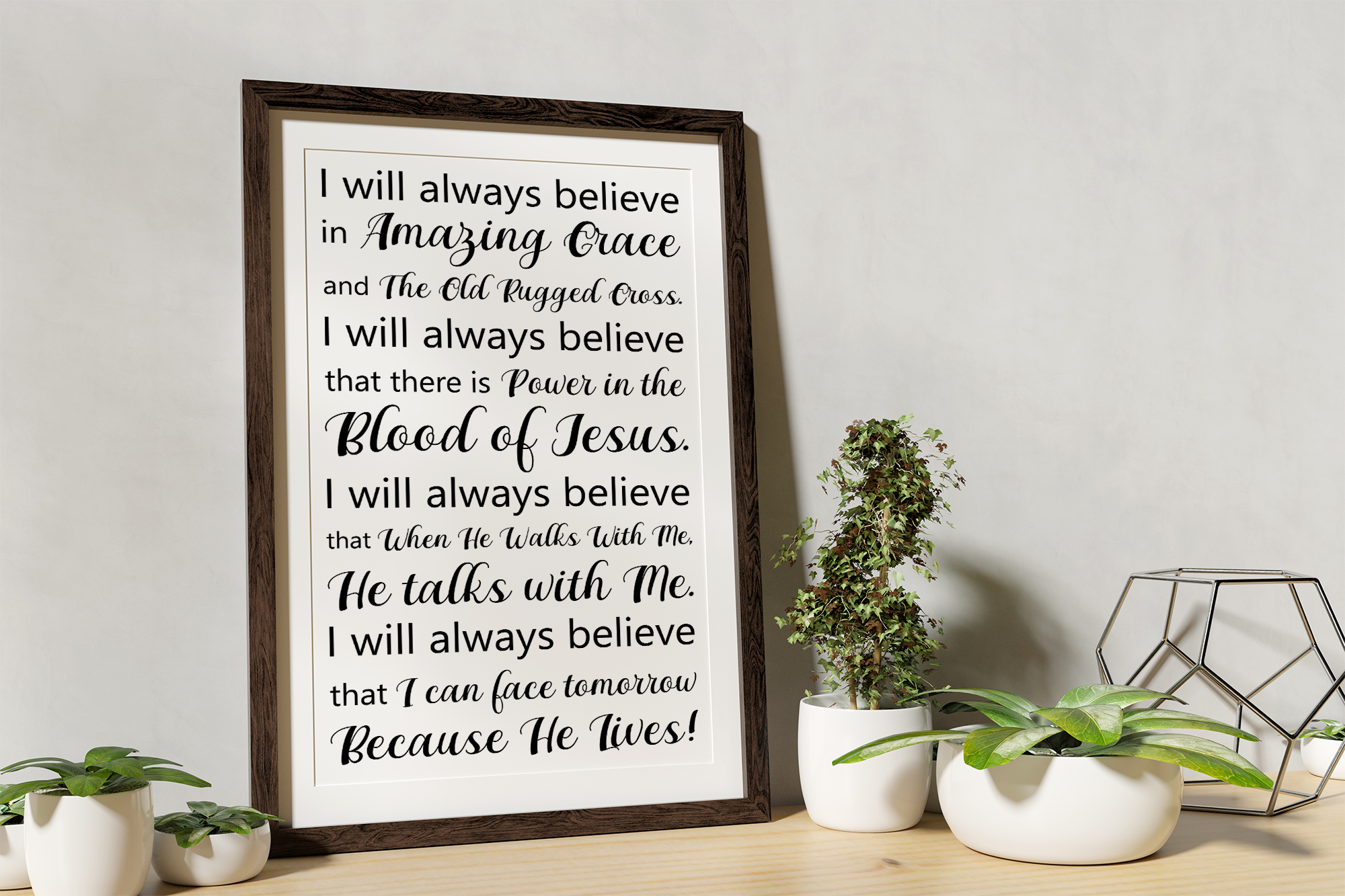I will always believe SVG EPS PNG Religious SVG Bible Verse example image 2