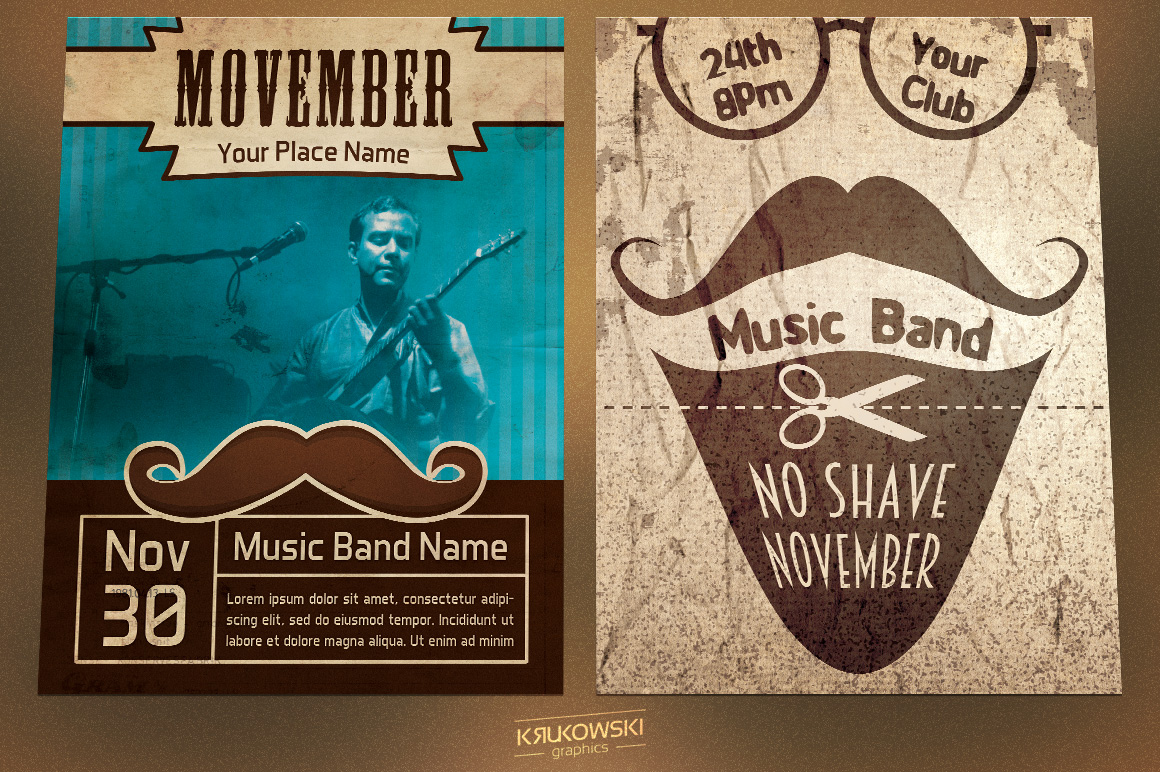Movember Flyers Bundle example image 3