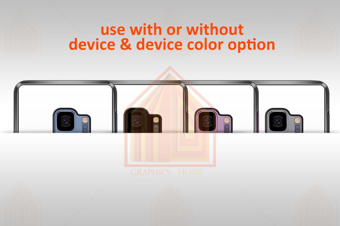Samsung Galaxy S9 2dCase Design Mockup Back example image 4