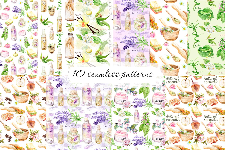 Watercolor set Natural cosmetics example image 2