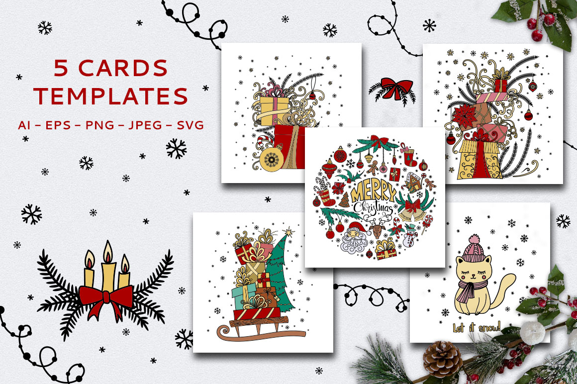 Christmas Doodles example image 3