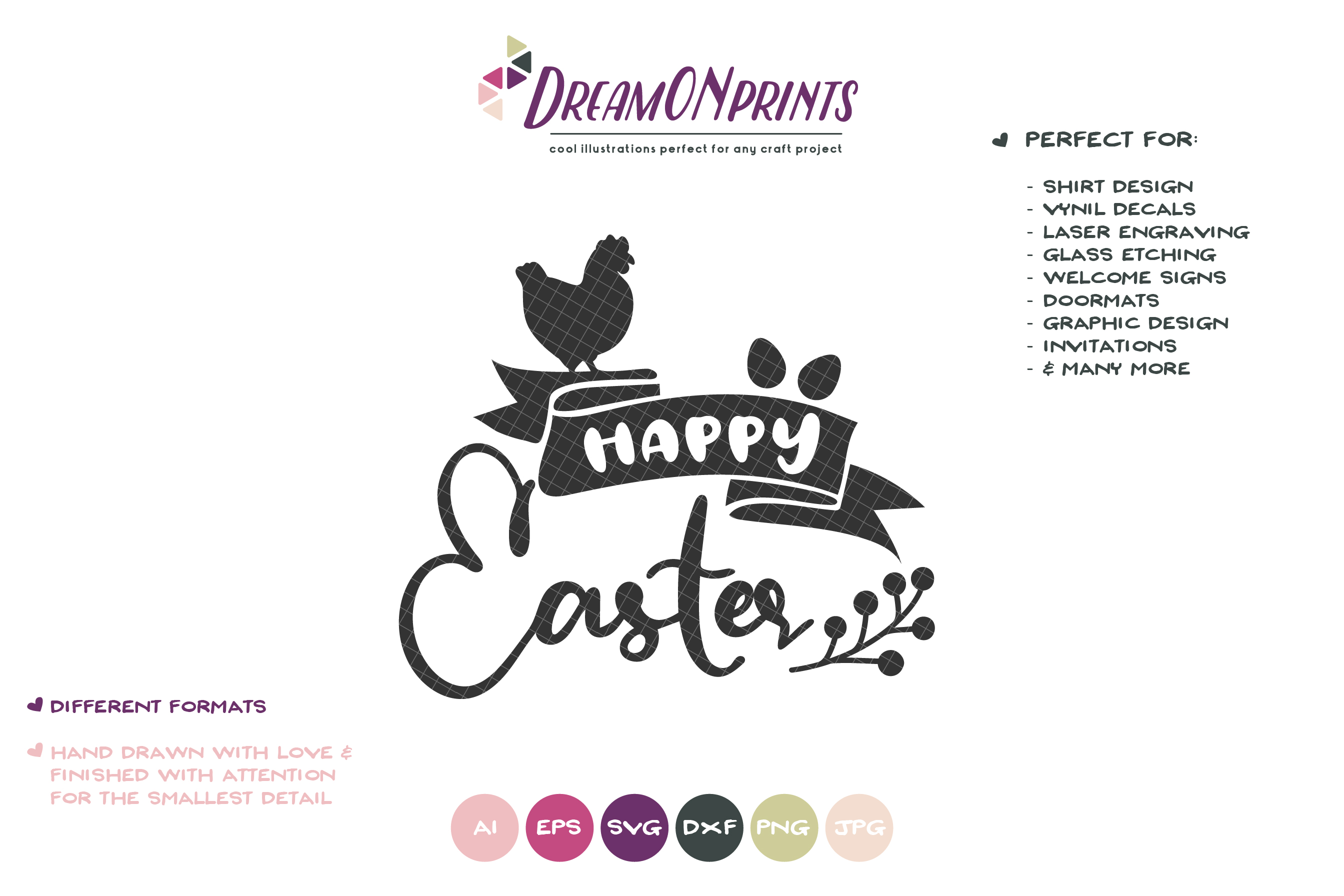 Happy Easter SVG - Farm Easter SVG example image 2
