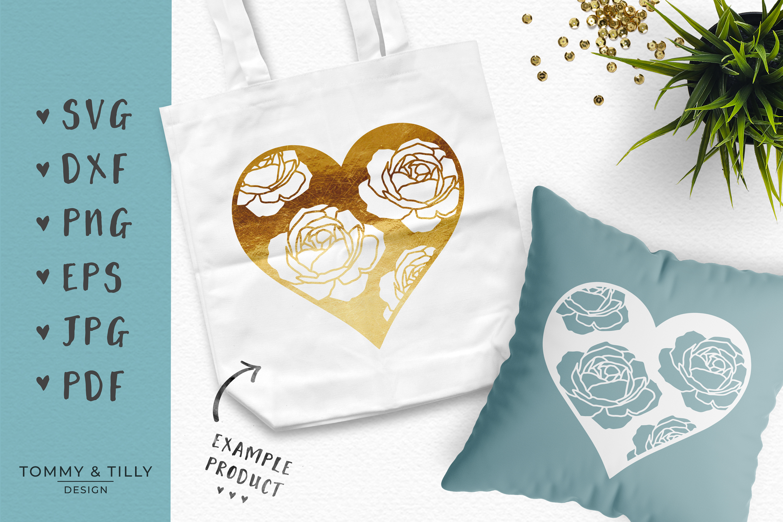 30 Designs! Romantic Hearts Bundle- SVG EPS DXF PNG PDF example image 6
