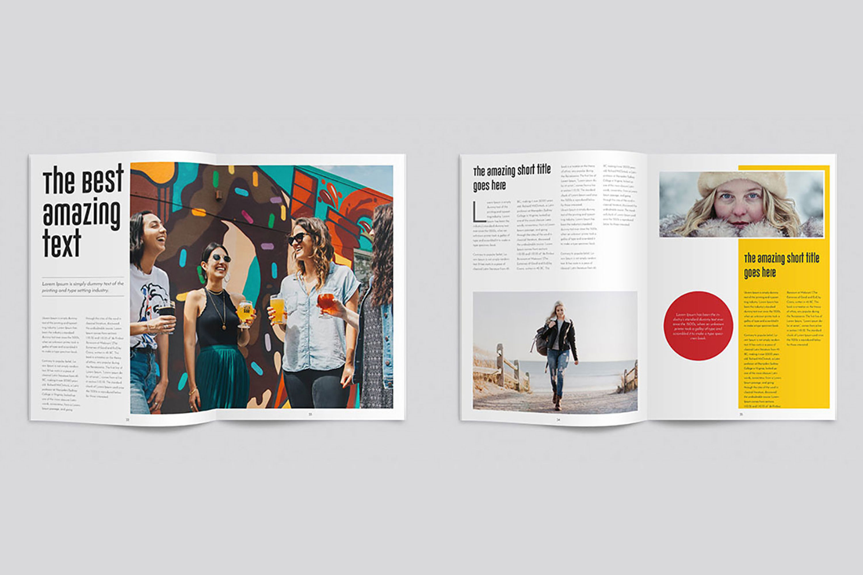 InDesign Multiple Magazine Layout example image 7