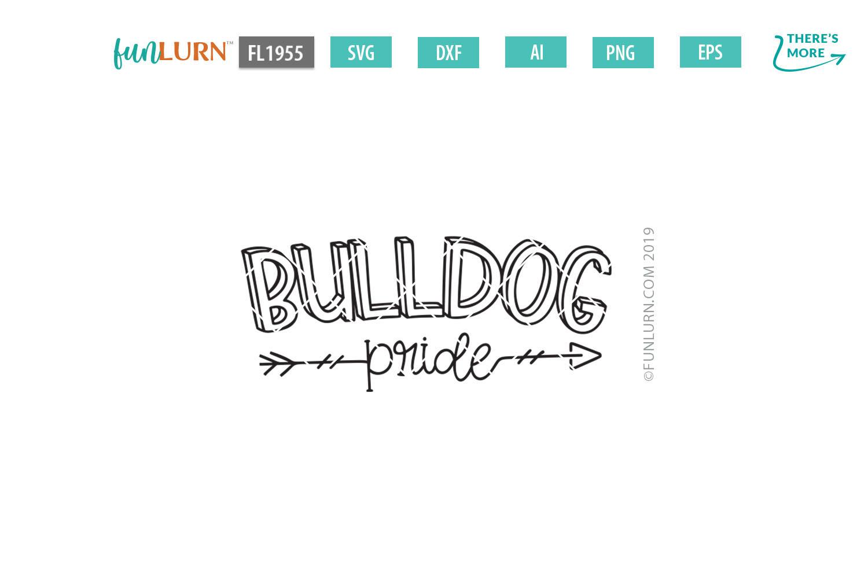 Bulldog Pride Team SVG Cut File example image 2