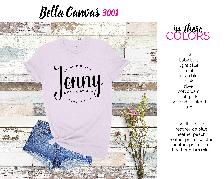 Bella Canvas 3001 Mockup Bundle, Knotted Tshirt Mockup example image 7