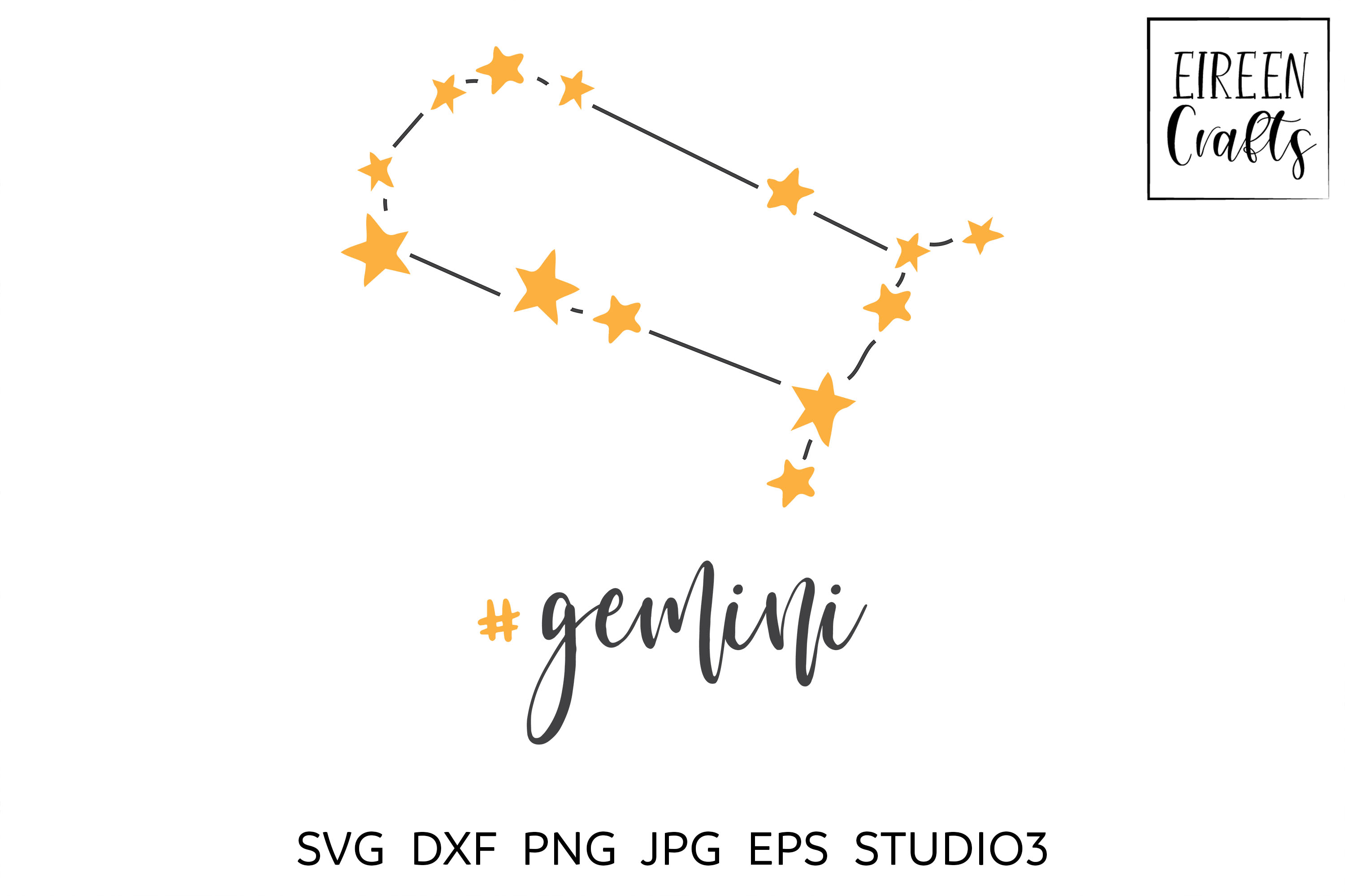 Zodiac SVG Bundle - Zodiac cut files for Cricut & Silhouette example image 4