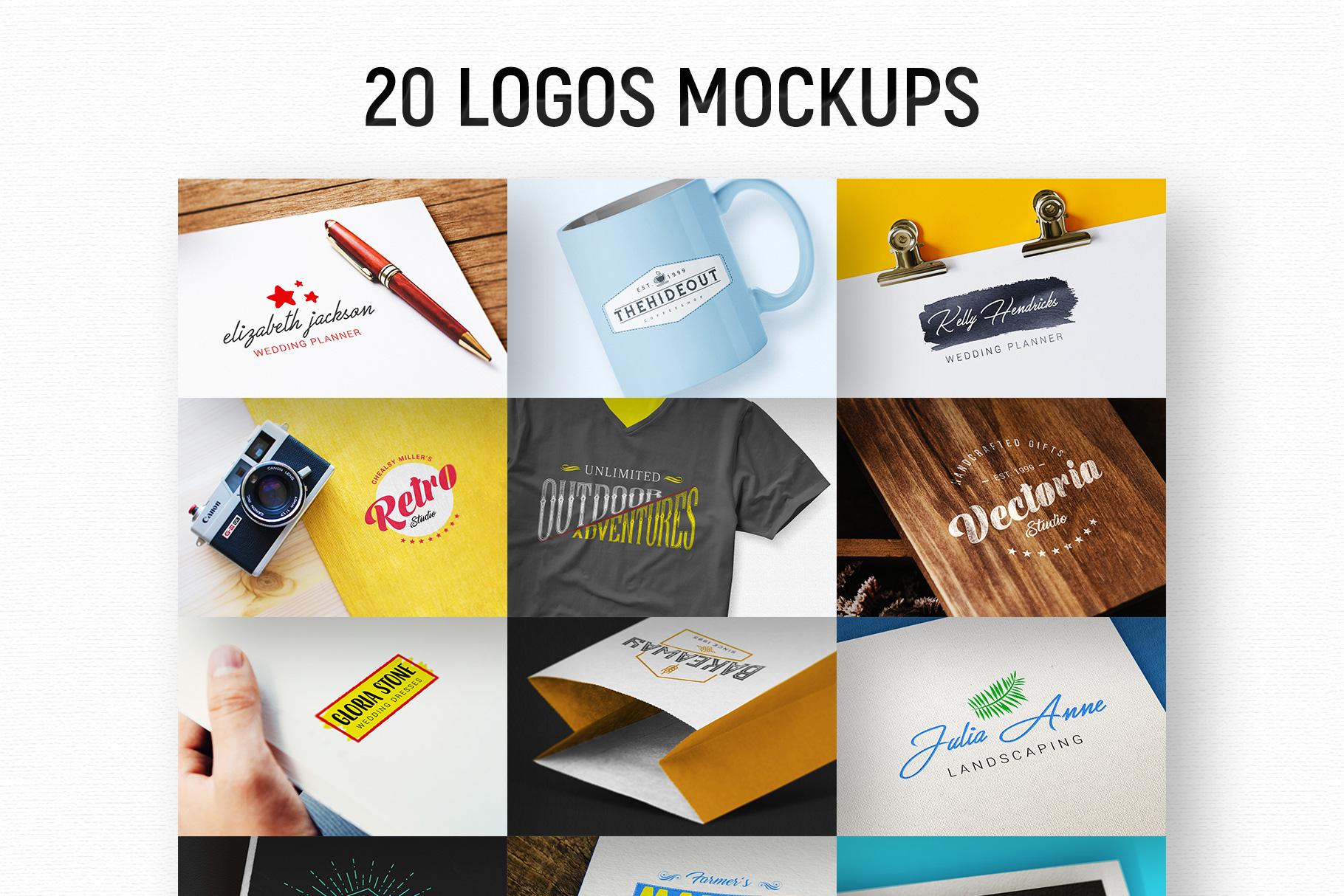 20 Logos Mockups example image 1