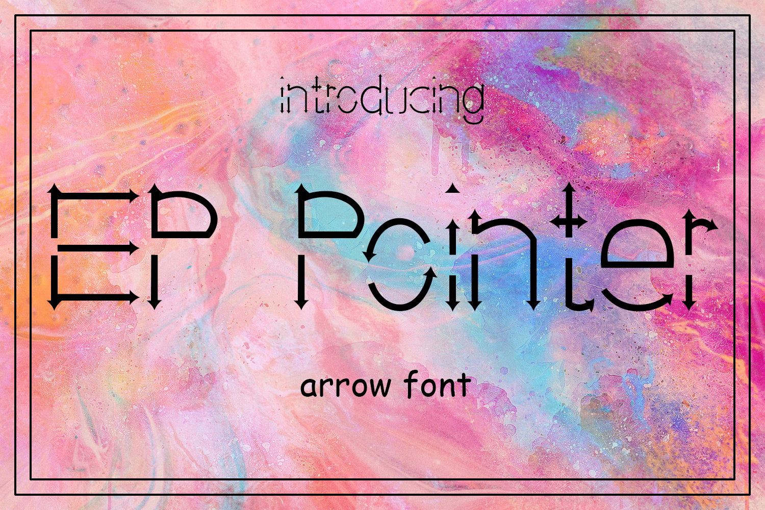 EP Pointer - An Arrow Font example image 1