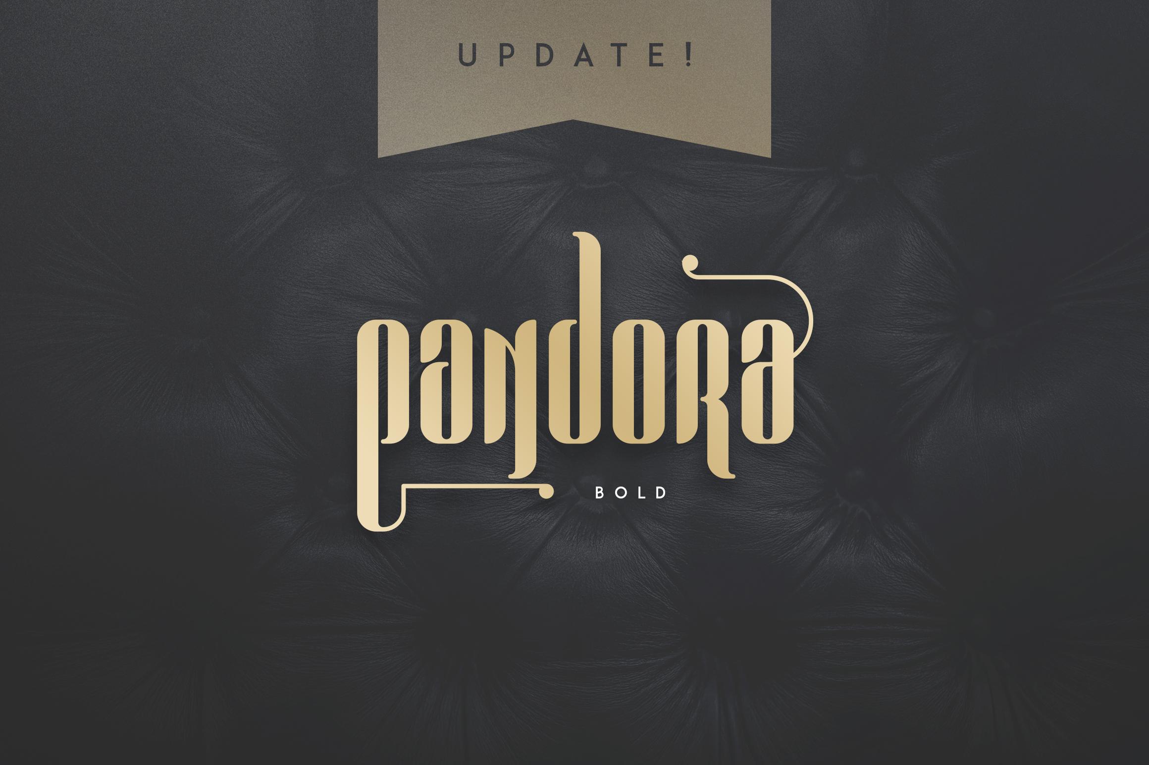Pandora Display font example image 8