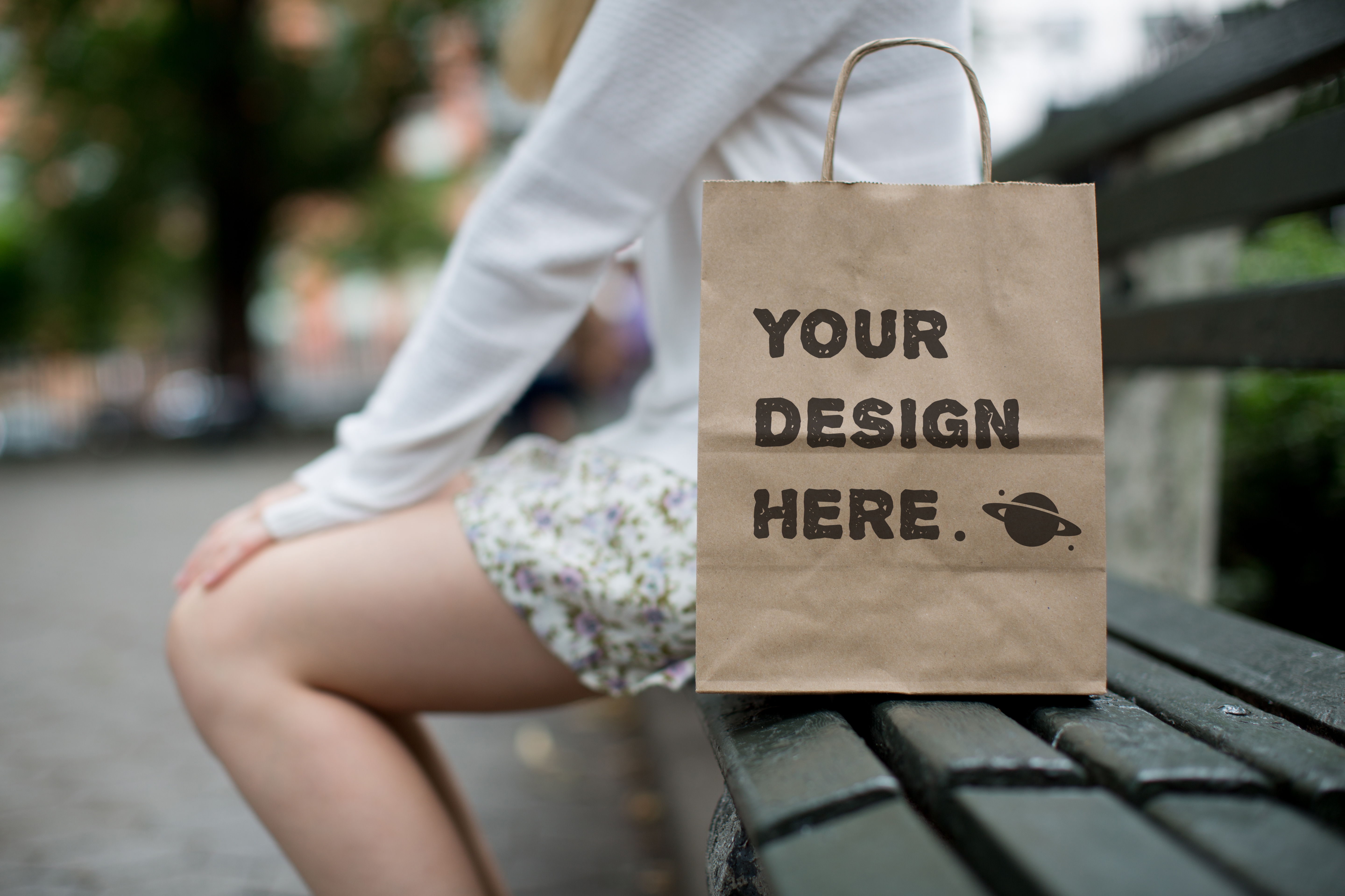 Set from 8 paper bags Mockups example image 8