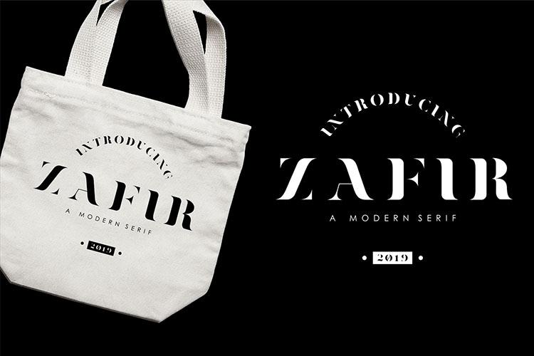 Zafir - Serif Font example image 2