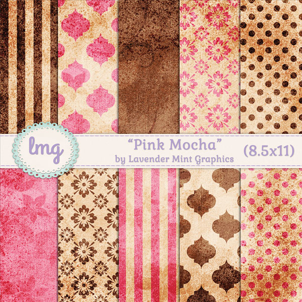 Pink and Brown Digital Journal Papers example image 1