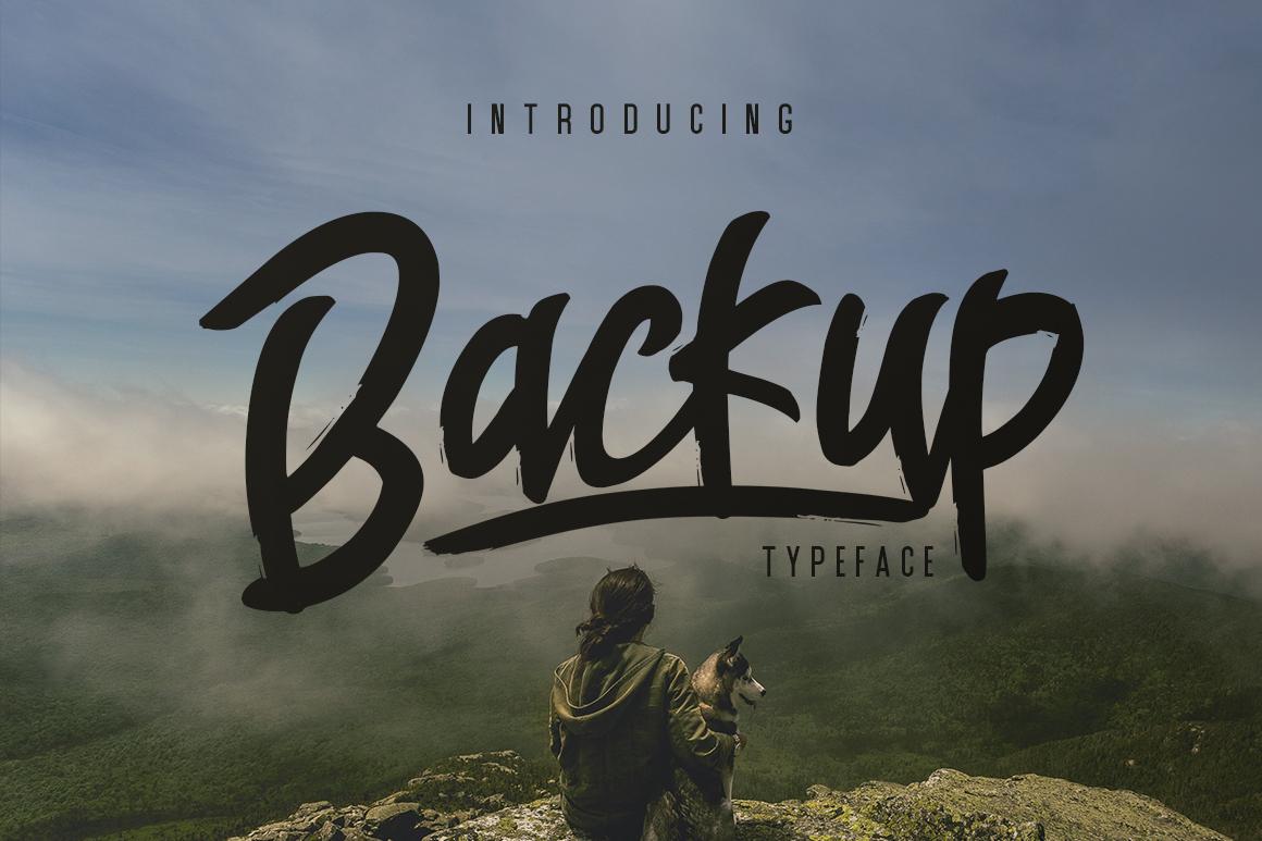 Backup Typeface example image 1