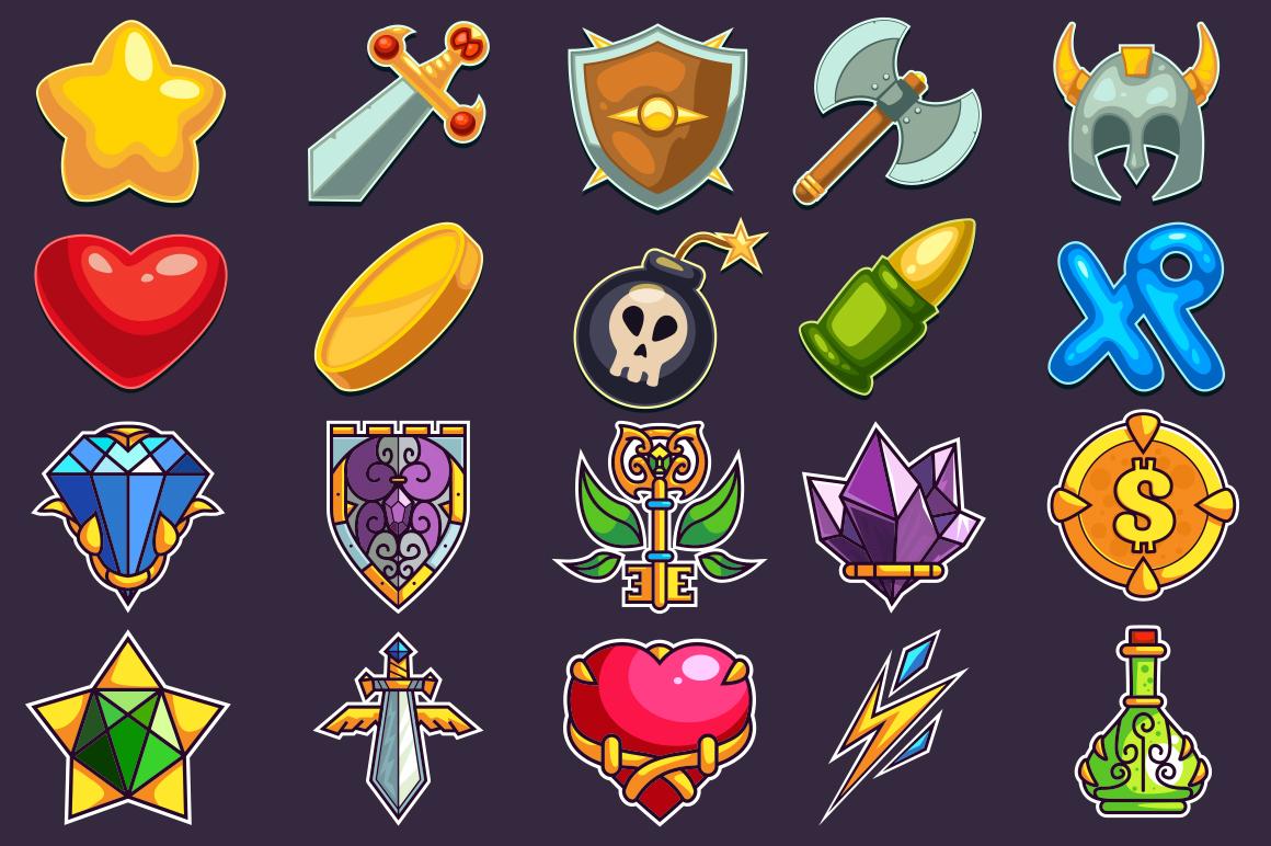 Cartoon Characters & Items Bundle example image 6