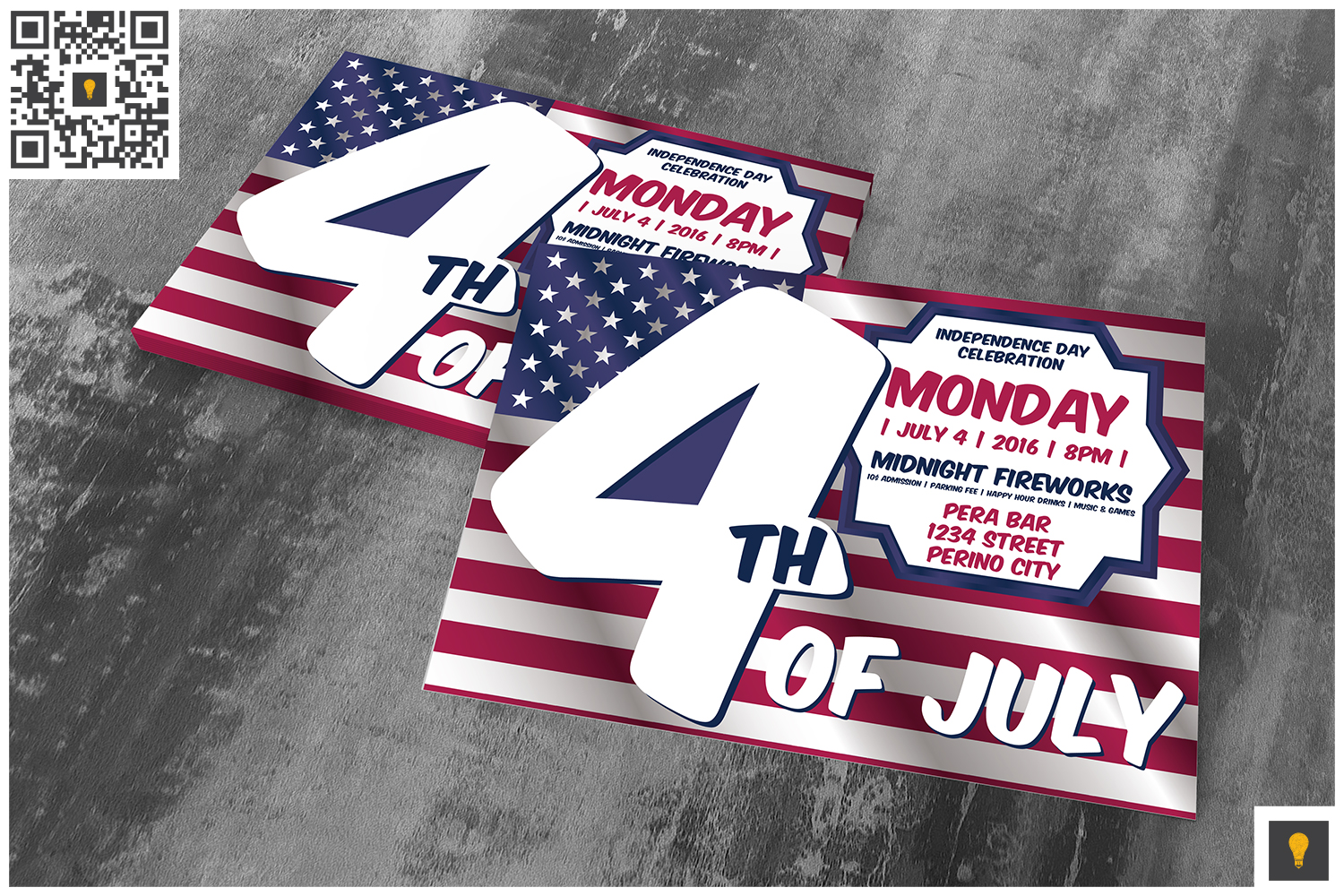 4th of July Invitation Card example image 3