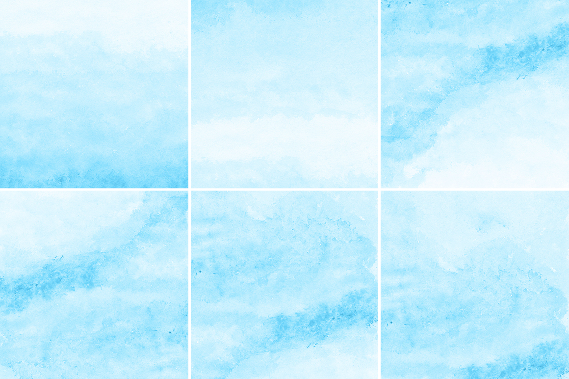 Bright Blue Watercolor Texture Backgrounds example image 2