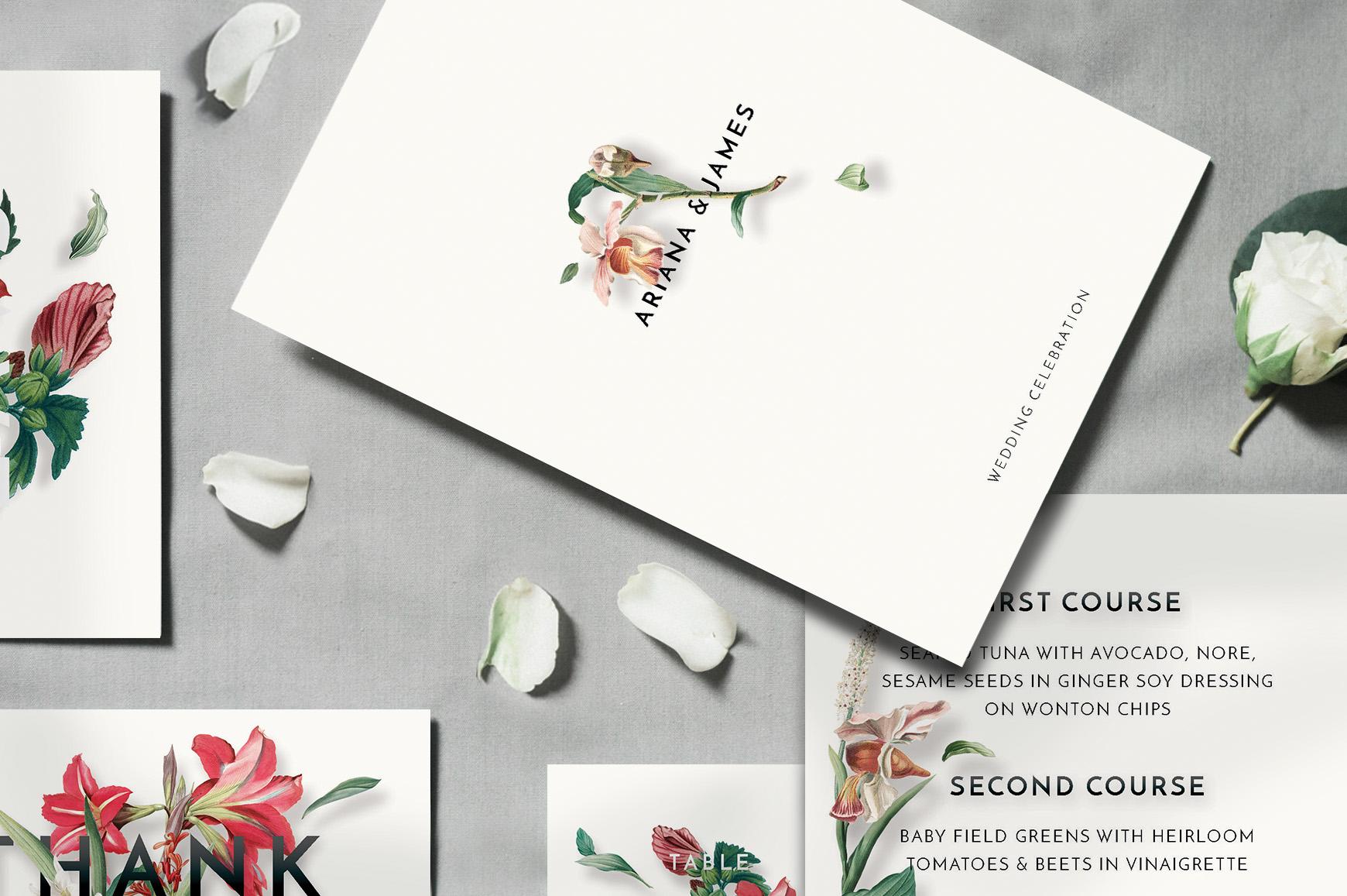 Modern Vintage Floral Wedding Invitation Suite example image 7