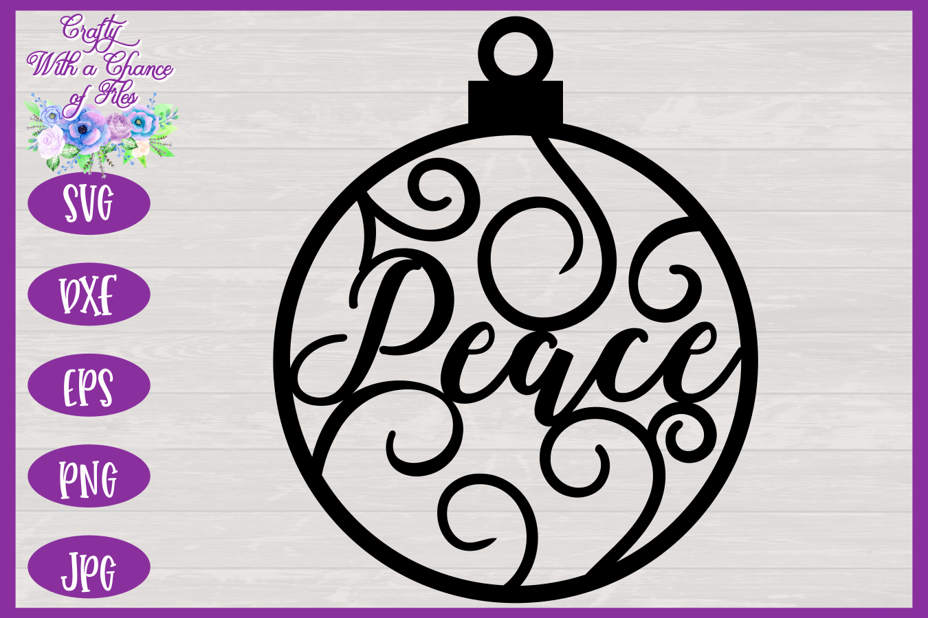 Christmas Word Ornaments SVG | Laser Cut Baubles SVG example image 7
