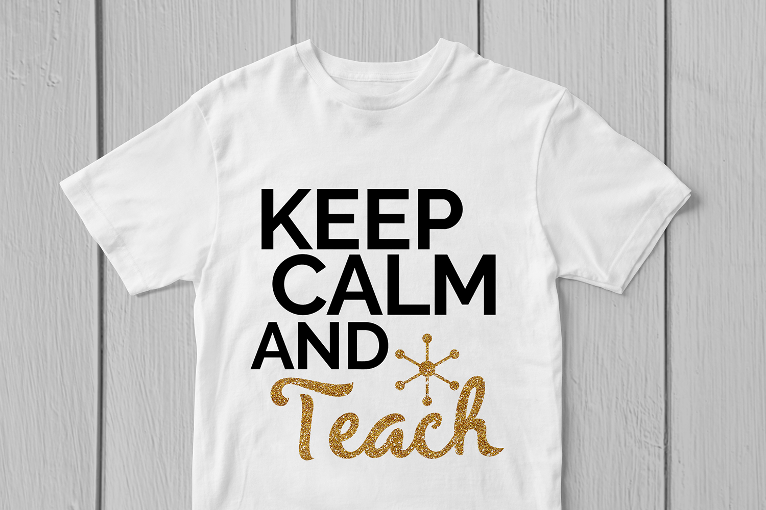 Keep Calm And Teach - Teacher SVG EPS DXF PNG Cutting Files example image 3