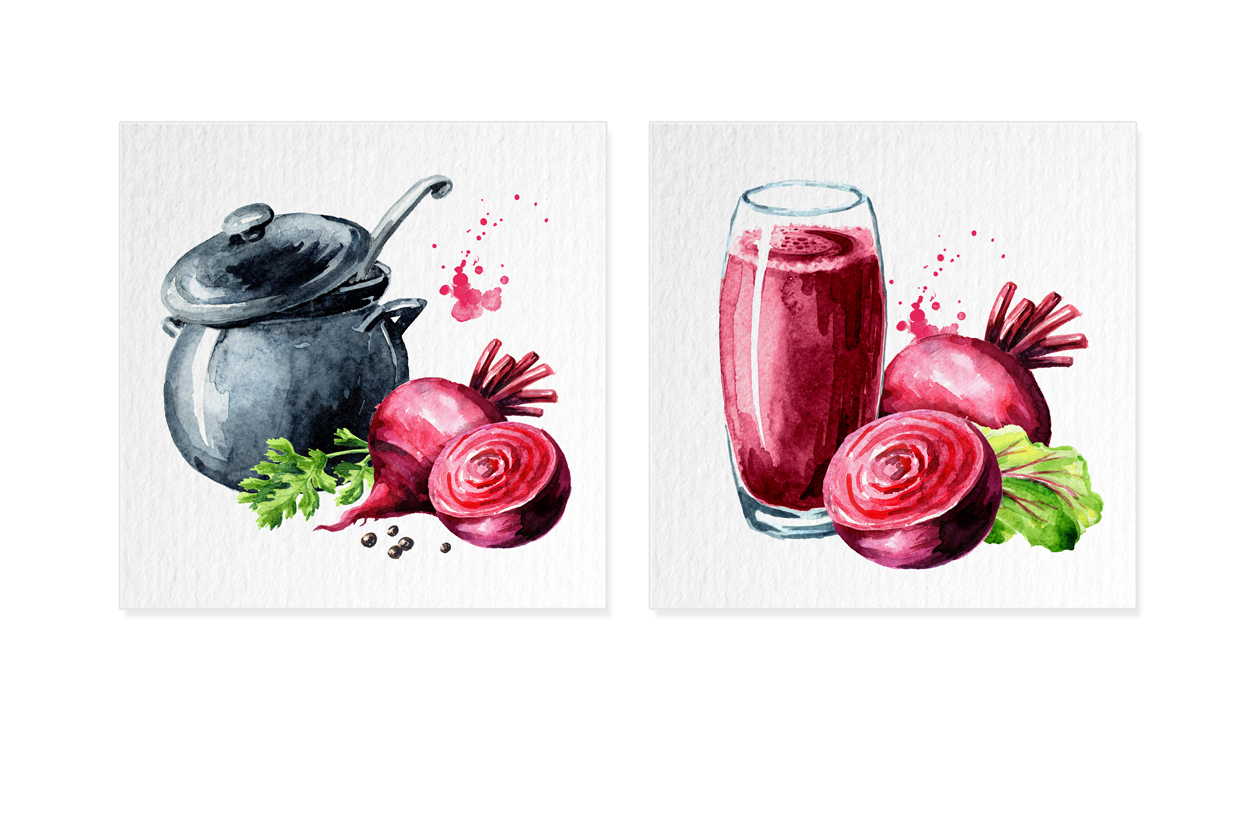 Beet root. Watercolor collection example image 4