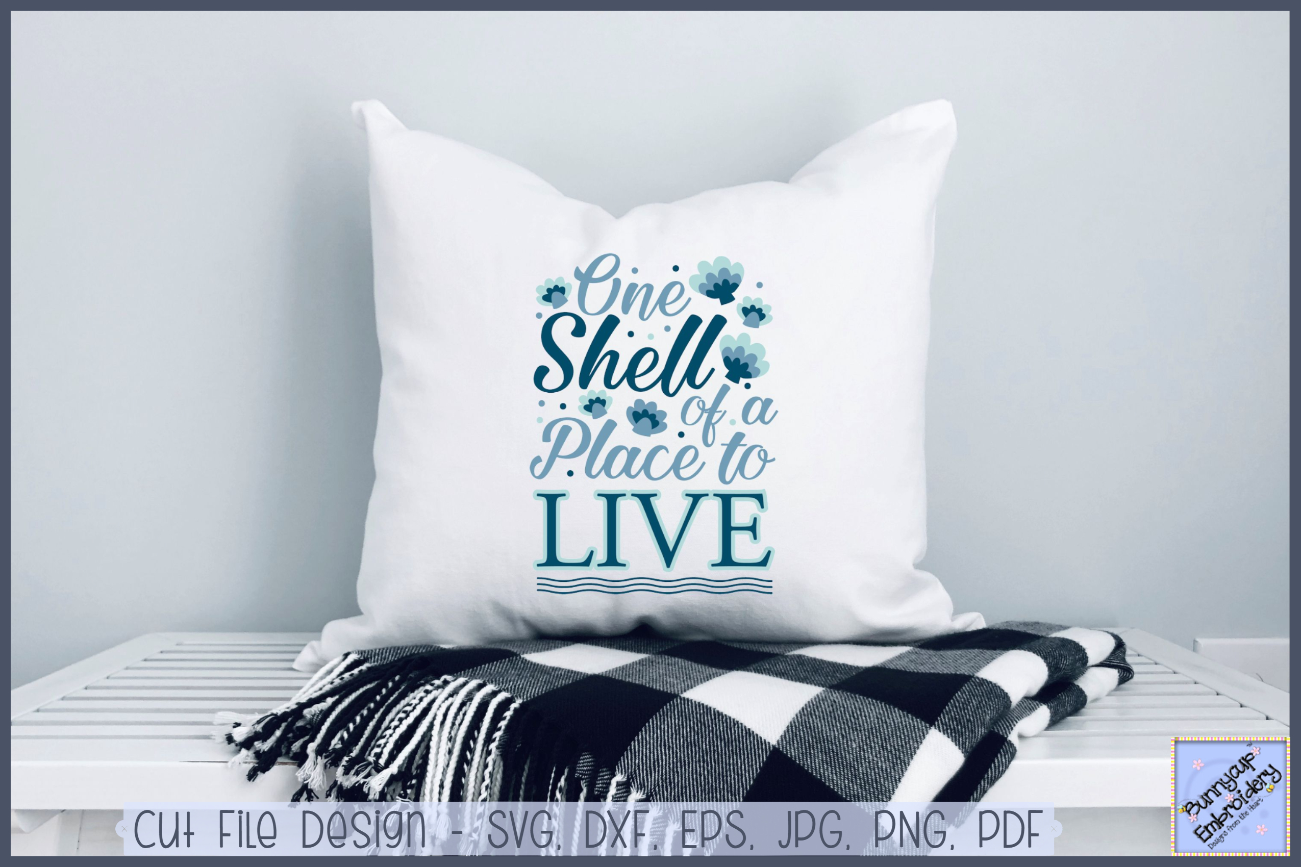 One Shell Of A Place To Live - SVG, Clipart, Printable example image 1