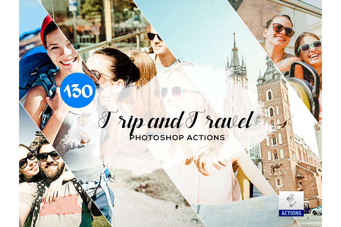 130 Trip and Travel Photoshop Actions example image 1