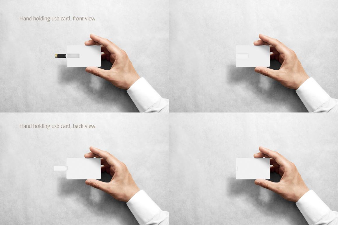 Wafer USB Wallet Card Mockup example image 6