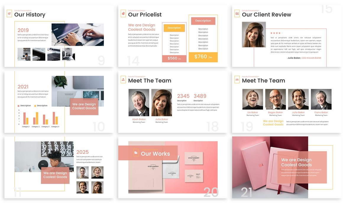 Salude - Pastel Powerpoint Template example image 3