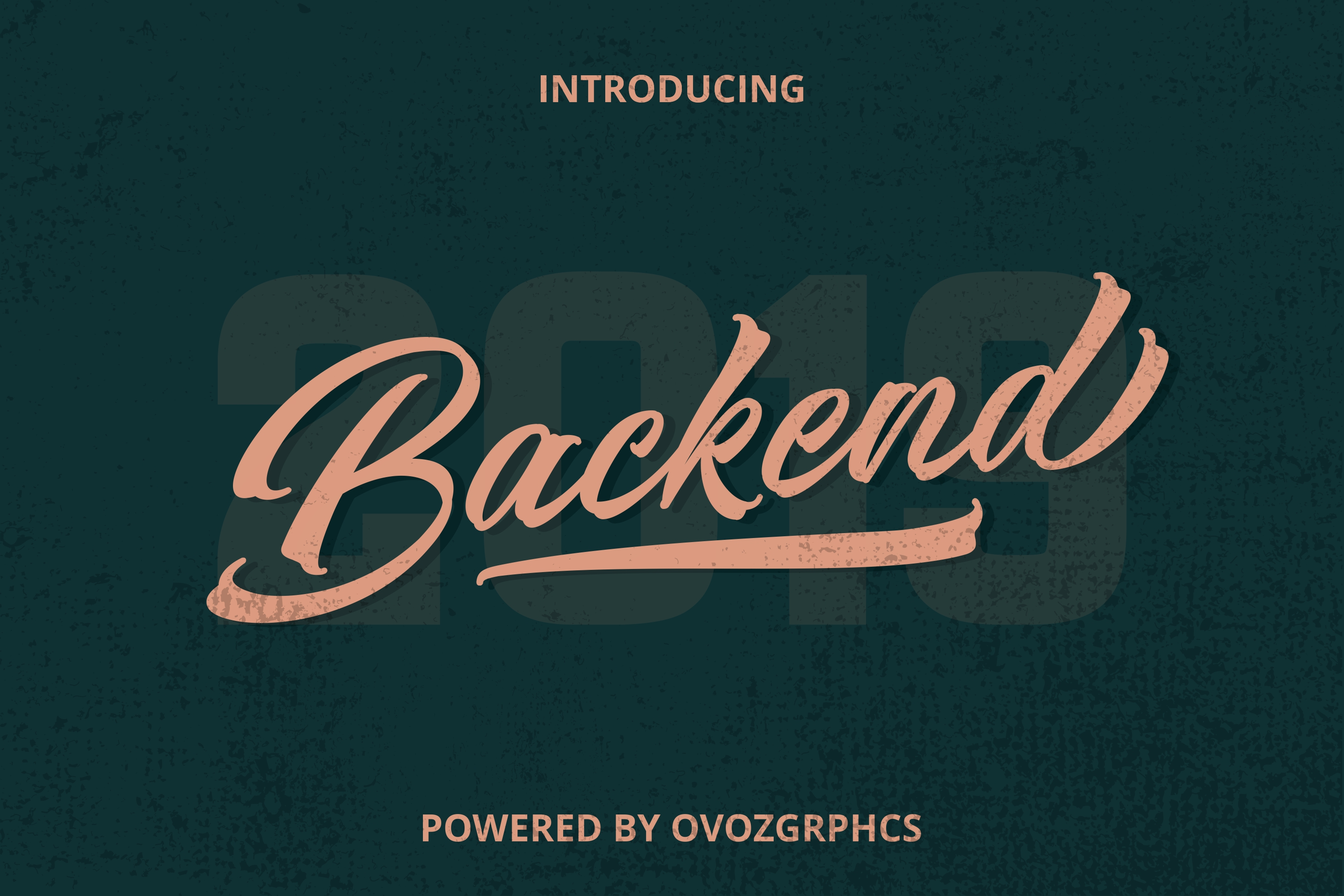 Backend Script Font example image 1