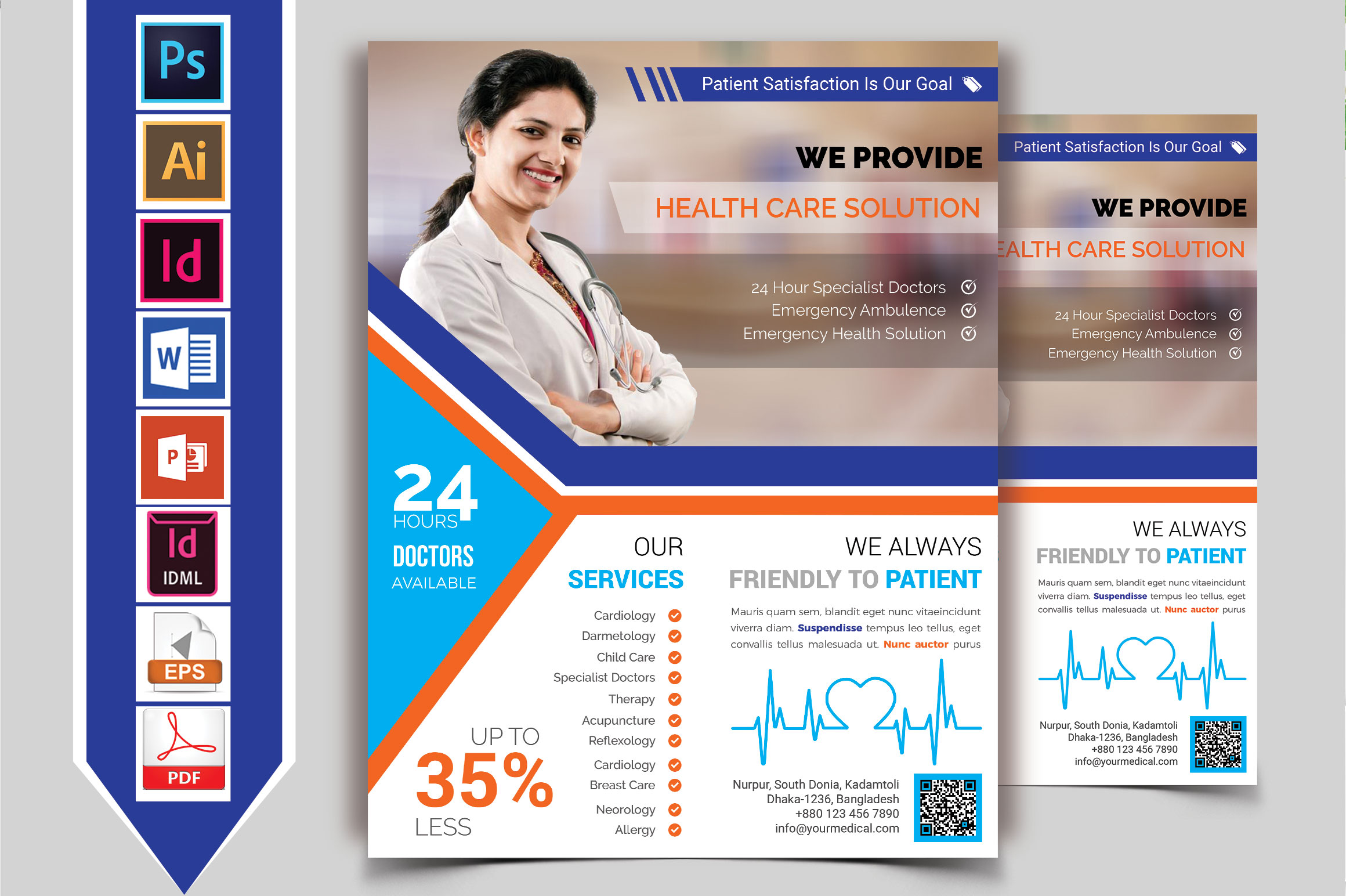 Doctor & Medical Flyer. Vol-10 example image 1