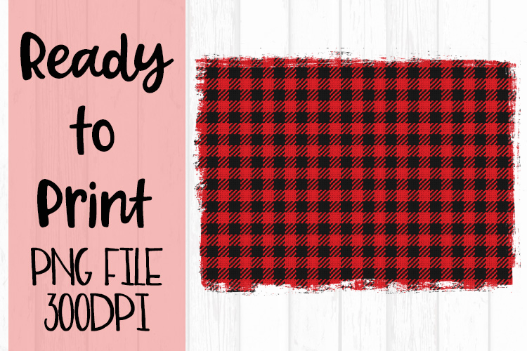 Red Buffalo Plaid Background Ready to Print example image 1