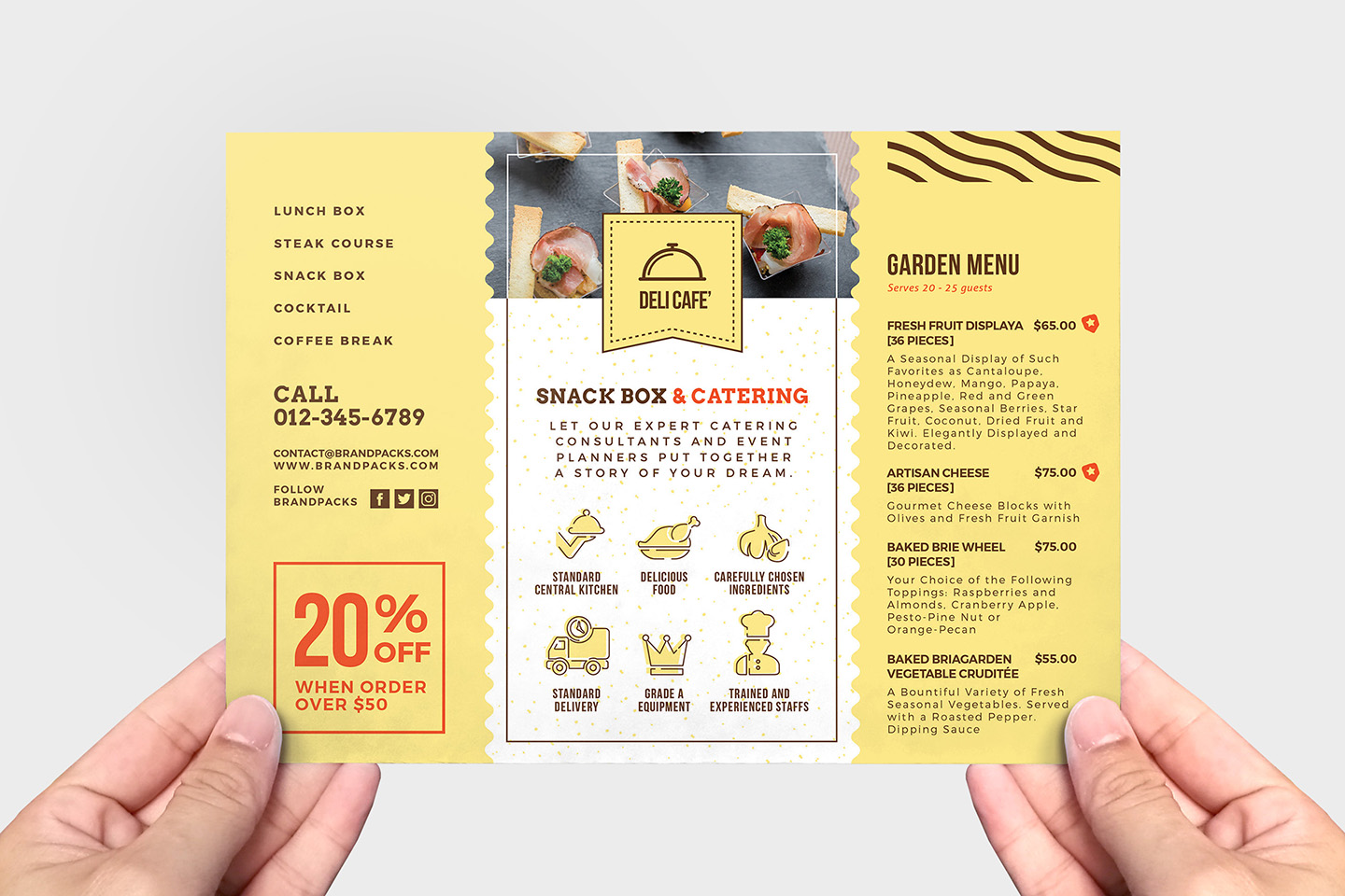 Catering Service Flyer Template v2 example image 3