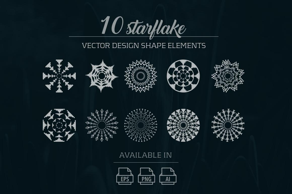 10 starflake vector design elements example image 1