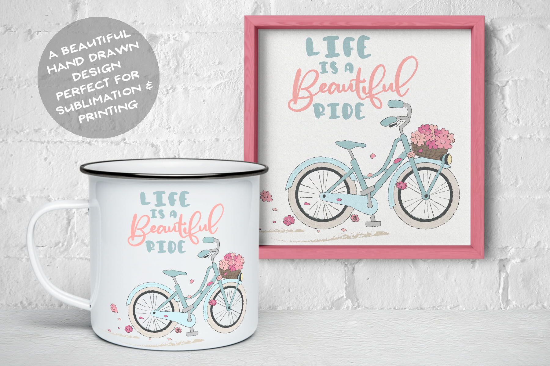 Life is a Beautiful Ride | Sublimation Life Quote with Bike example image 2