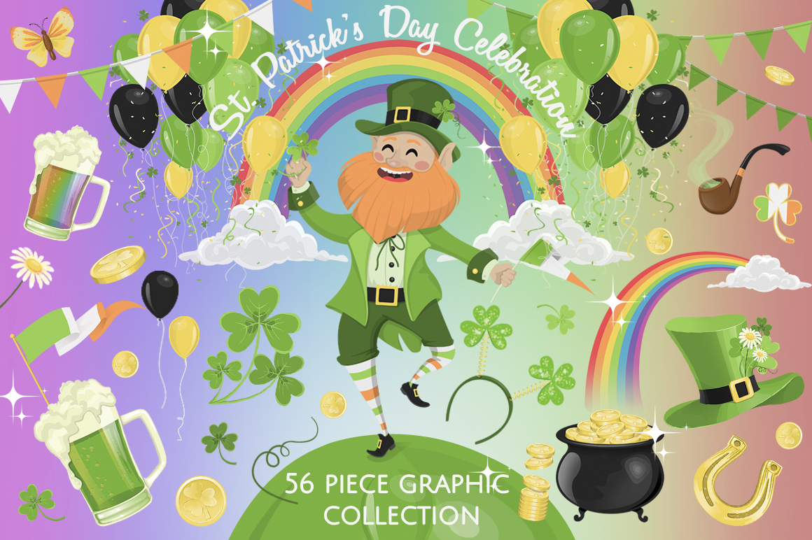 St. Patrick's Day Graphics Collection example image 1