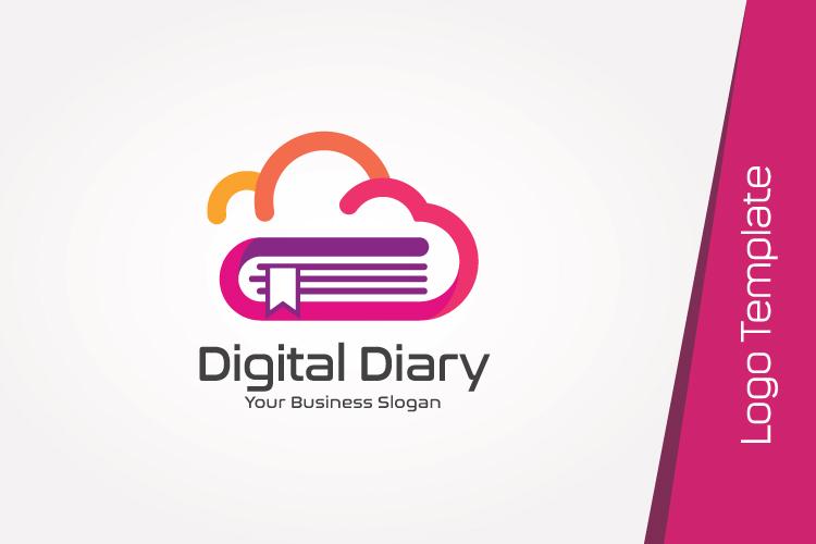 Cloud Book Logo Template example image 2