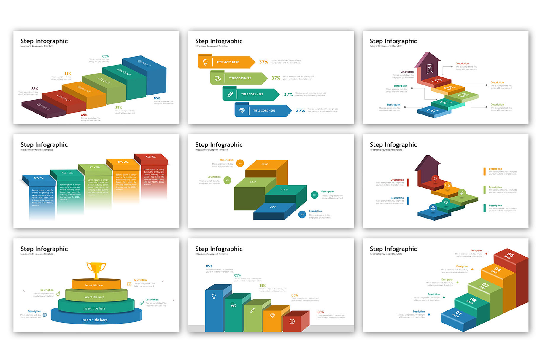 Step Presentation - Infographic Template example image 3