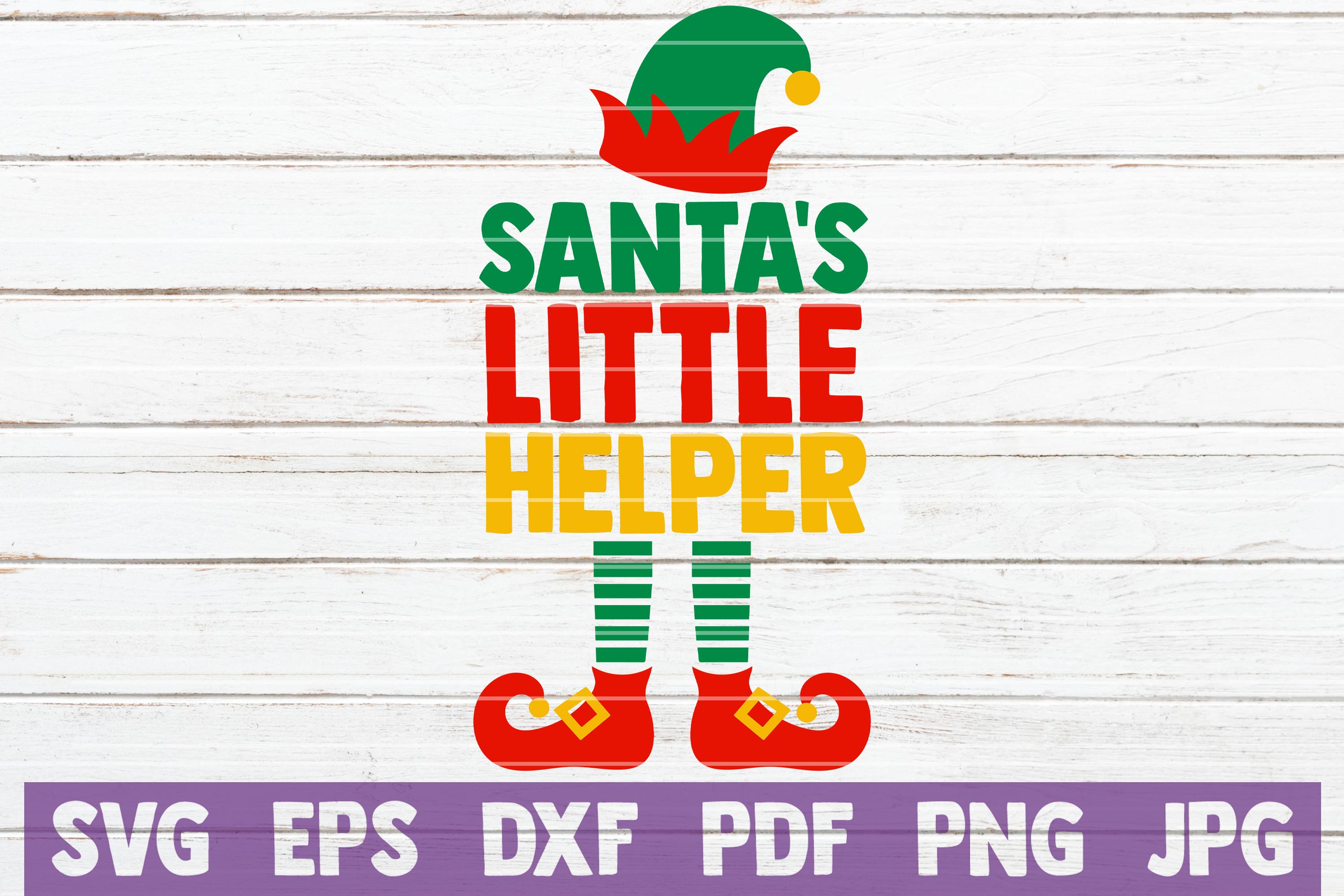 Santa's Little Helper SVG Cut File example image 1